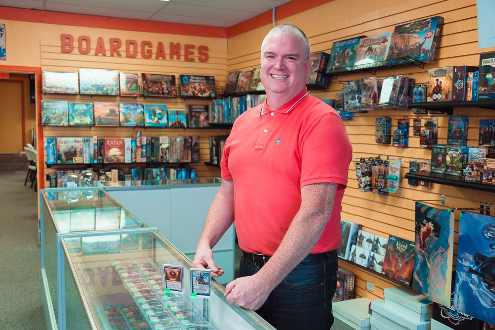 GAMING MECCA: Ron Wood hosts weekly gaming tables at Nameless City, fostering community in many local gamers.