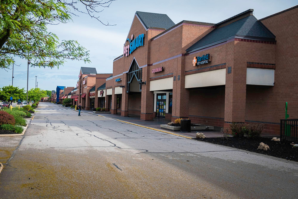 The The 370,000-square-foot center houses PetSmart and several other stores.