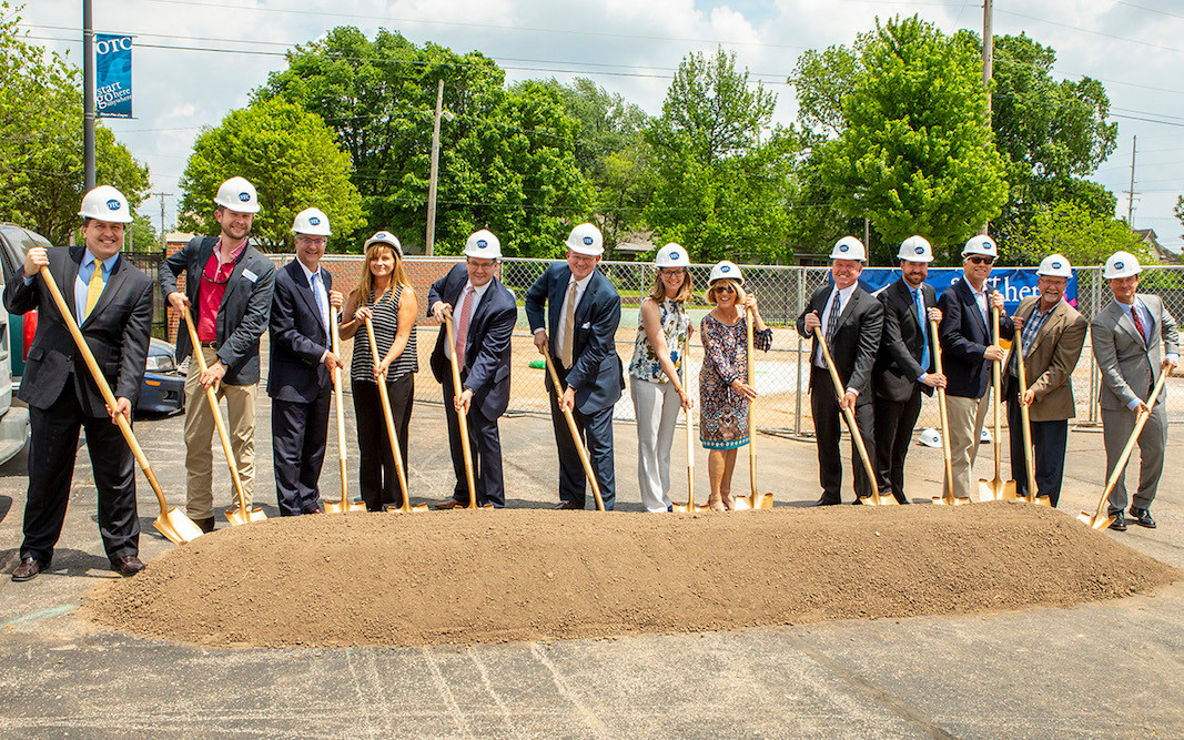 Ozarks Technical Community College officials, along with industry and community partners, break ground on the MHC Diesel Technician Training Center.