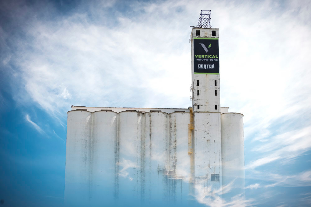 Vertical Innovations' logo remains prominently displayed at the old MFA grain silos in center city.