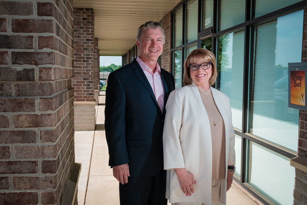 Phil Melugin, pictured with his wife Kim, says diversification and brand recognition play key roles at Phoenix Home Care Inc.