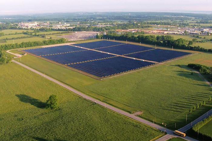 City Utilities is considering a second community solar farm. A proposed 30-acre site at Springfield-Branson National Airport would create a slightly smaller facility than CU's first solar farm shown here on roughly 40 acres east of Springfield.