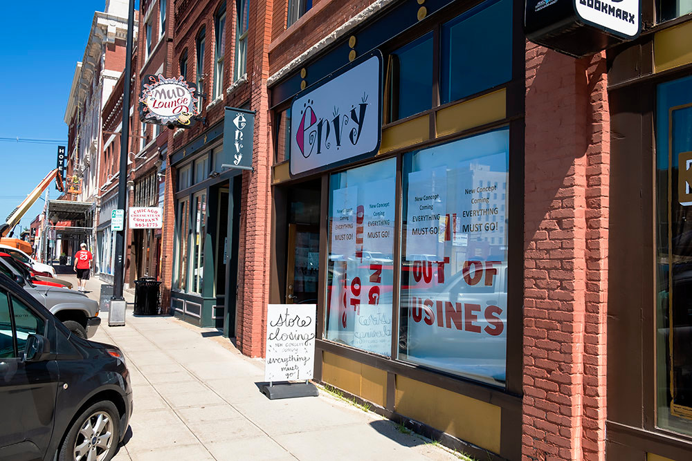 Envy Boutique's Springfield store is closing after a liquidation sale.