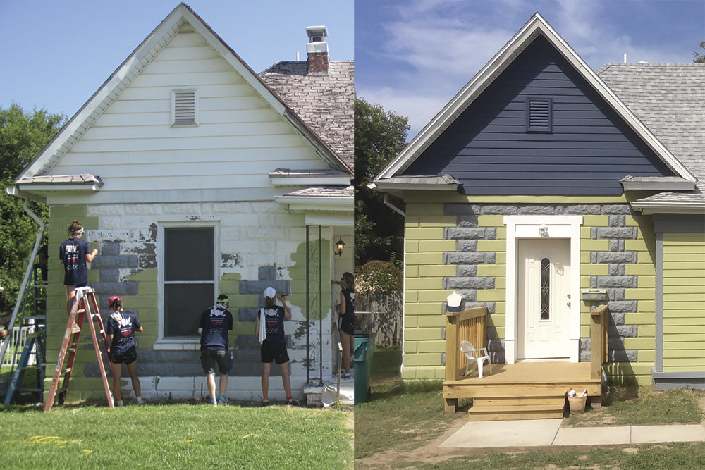 Habitat for Humanity of Springfield renovates a Woodland Heights home, as shown above in before and after photos.