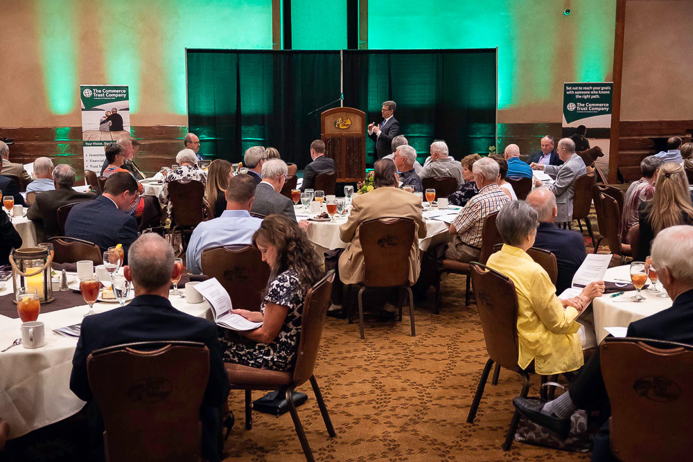 About 125 guests attend Commerce Trust's economic outlook luncheon June 6 at White River Conference Center.