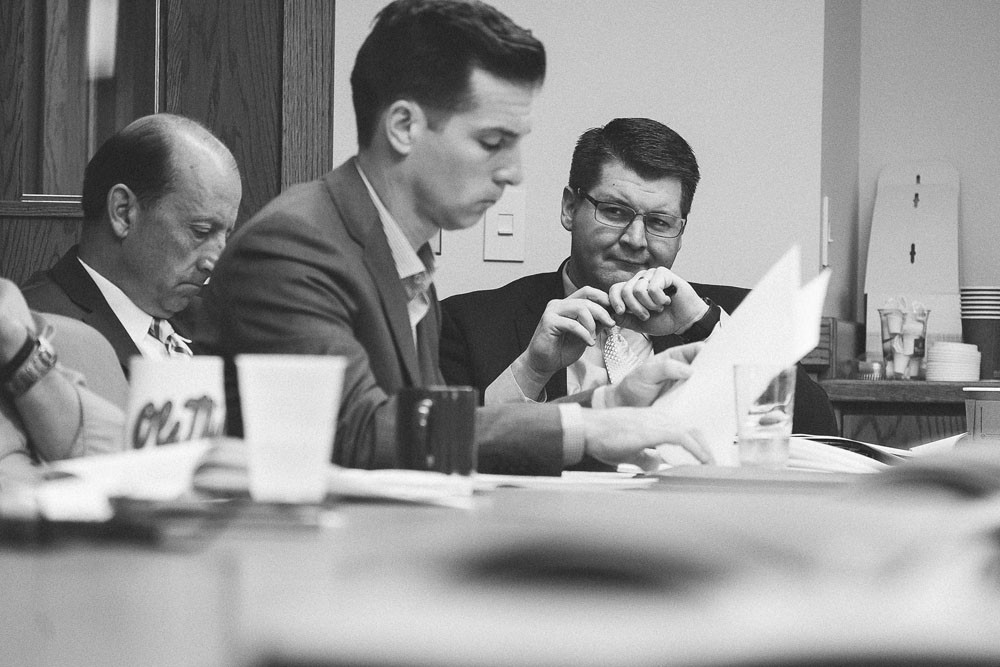 FULLY FOCUSED: Matt Morrow listens intently during a presentation at a Healthy Living Alliance advisory council meeting.