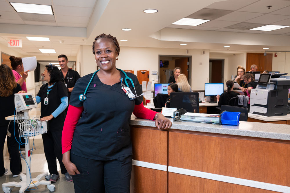 ON THE MOVE: Latasha Harris works as a float nurse at Mercy Hospital Springfield. She says it allows her to have similar pay and experience as a traveling nurse.