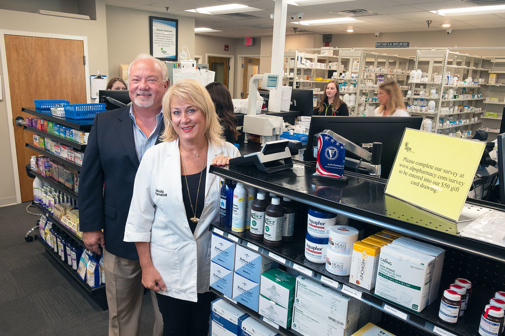 PHARMACEUTICAL COUPLE: Don and Melody Savley continue to invest in Alps Pharmacy, including $400,000 for equipment to sort and package patient pills.