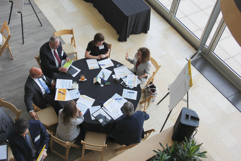Attendees discuss ideas for Missouri's economic and workforce strategy during breakout sessions at the June 27 Talent for Tomorrow and Best in the Midwest statewide summit.