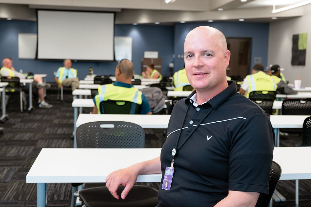 MAKING INROADS: Prime's Jim Guthrie says classroom space as its new three-story plaza center is utilized daily with new classes for its CDL program beginning every week.