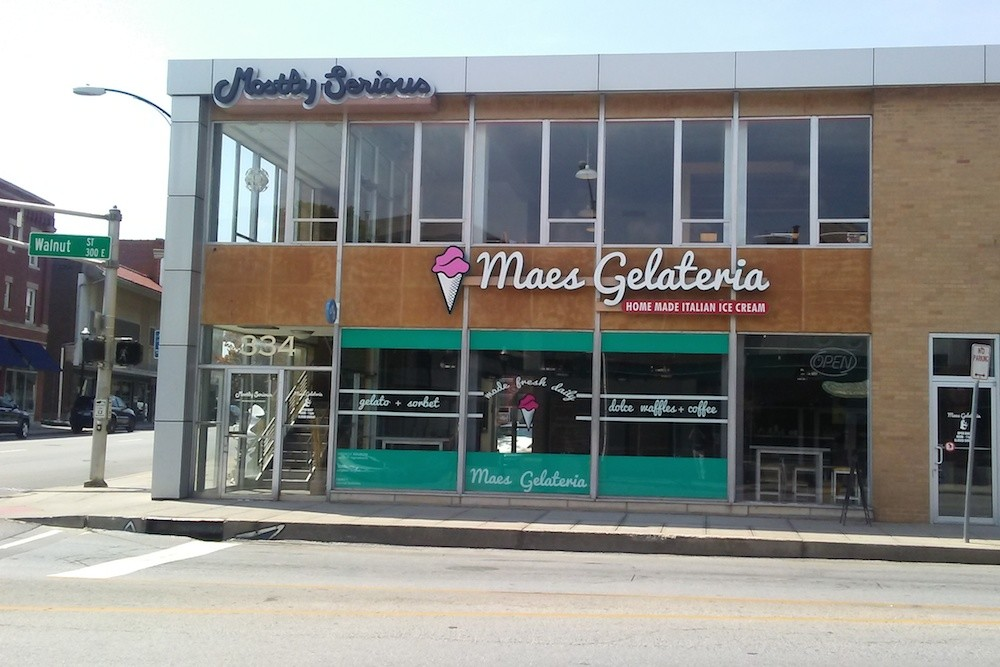 Maes Gelateria, which at 334 E. Walnut St., above, opened its first location in 2016, soon will have a new shop on Republic Road.