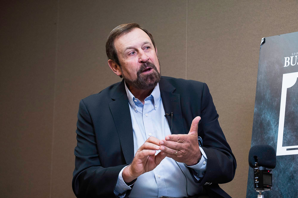 Rob Keck, WOW board chairman and director of conservation for Bass Pro Shops, speaks during SBJ's 12 People live interview series.