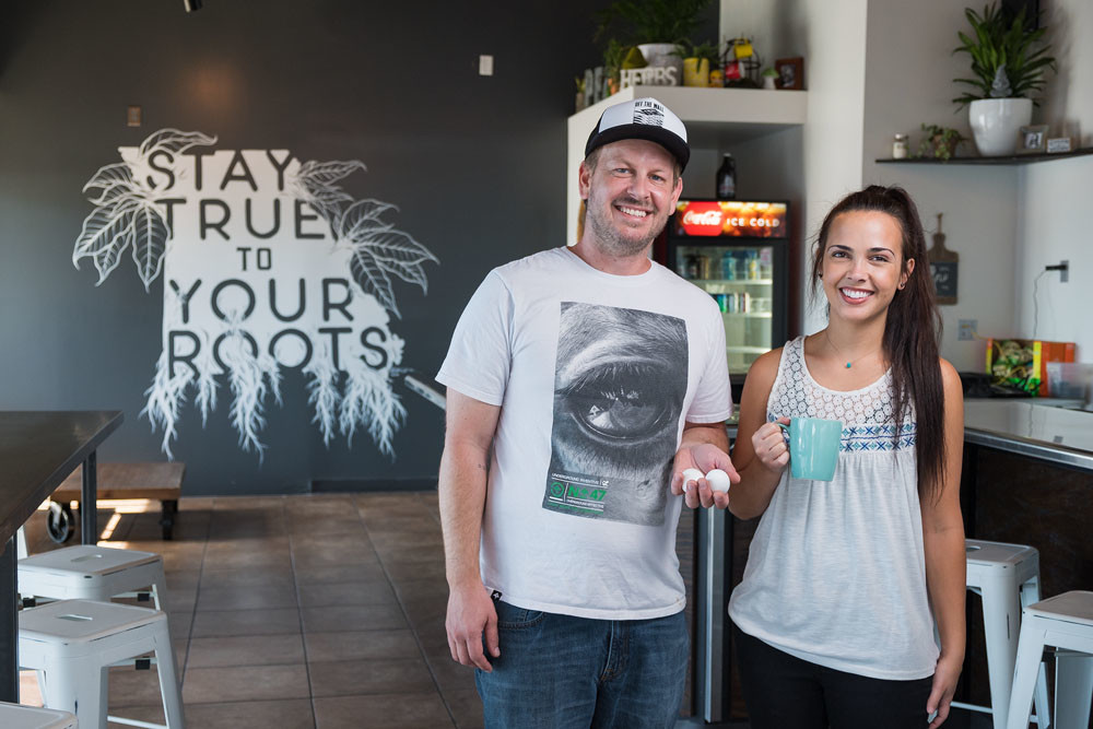 Stephen and Britny Washburn, Roots Coffee Bar