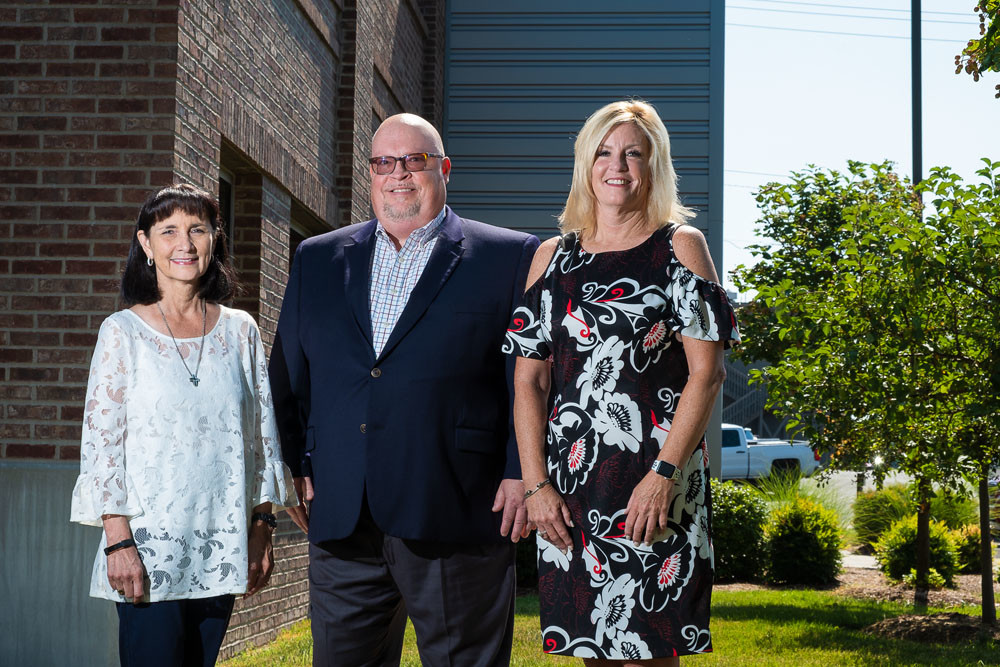 From left, led by Leah Ann Iaguessa, Tim Massey and Paula Adams, Penmac Staffing Services Inc. is in its 30th year of operation.