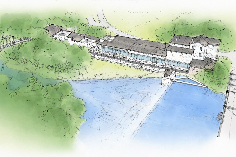 The restored Ozark Mill will anchor the larger Finley Farms development in Ozark.