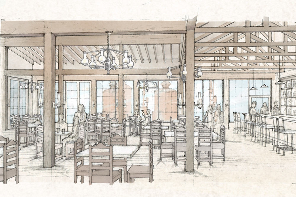 Riverside Grill is planned inside the mill.