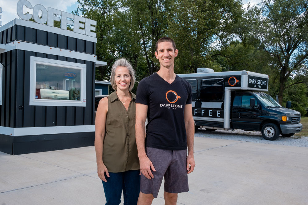 COFFEE CALLING: Sarah and Eric Huie produce $81,000 in 2017 revenue through Dark Stone Coffee.