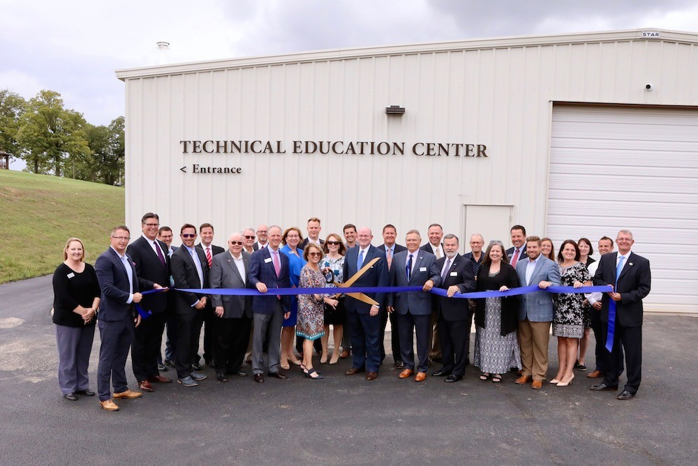 Ozarks Technical Community College officials cut the ribbon on the new Technical Education Center at its Table Rock Campus.