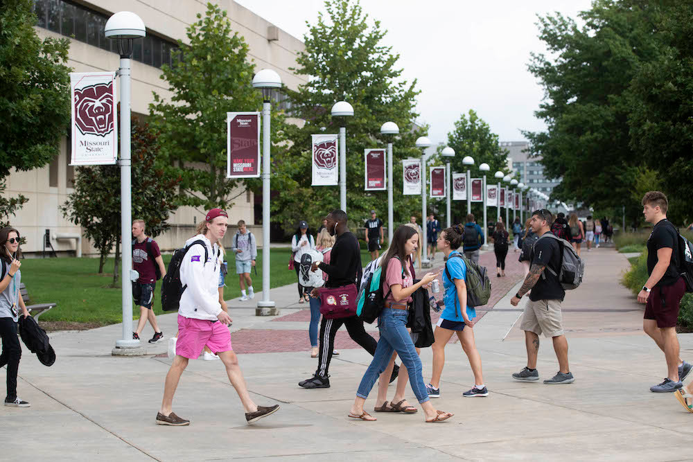 At Missouri State University, fall enrollment is just shy of a record set a year ago.