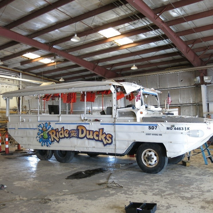 This Ride the Ducks Branson vessel was involved in the July accident that left 17 people dead. It has been inspected by the National Transportation Safety Board, among others.