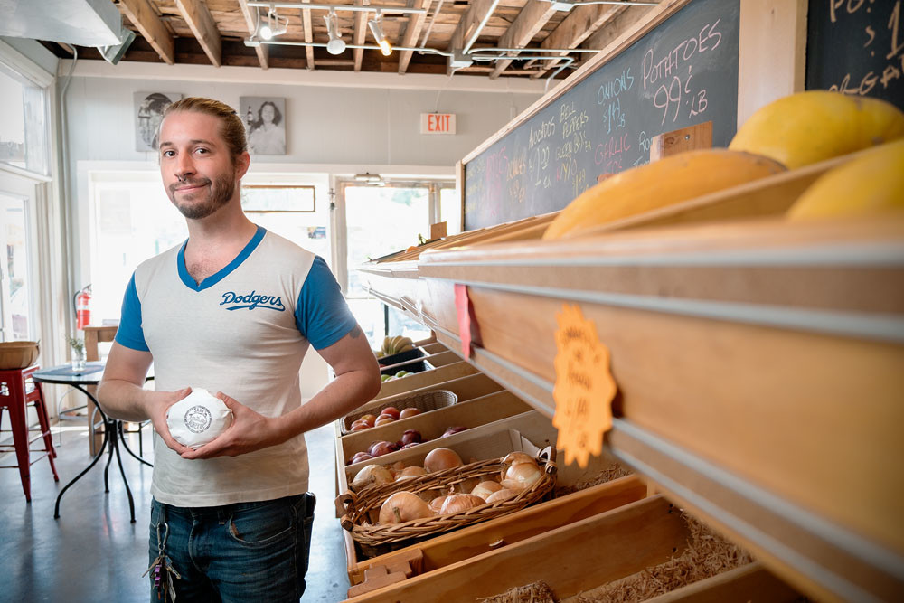 BURGER BATTLE: Jake Herren of Jake's Burgers makes his products mostly out of soy and wheat protein.