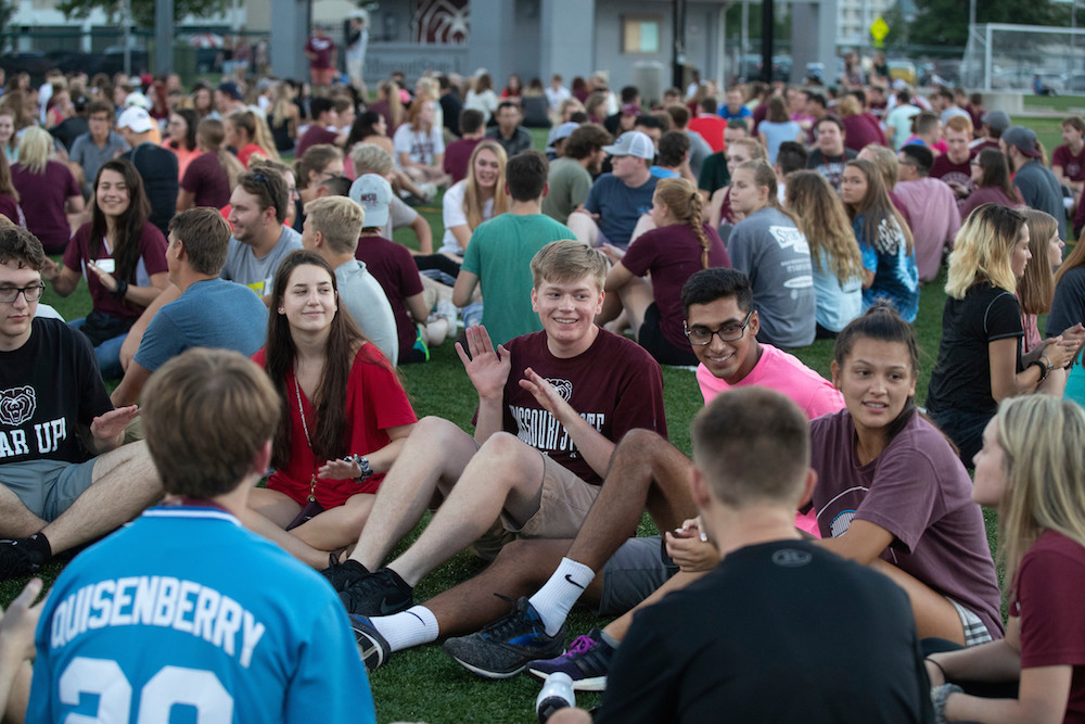 Missouri State University students participate in opening weekend activities last month.