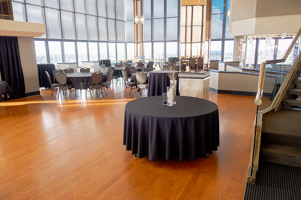 UP IN THE AIR: The JQH Tower Club has held recent events, but the current status of booking is unknown.