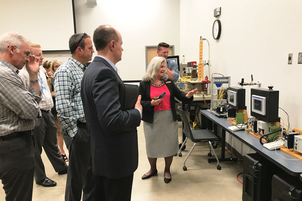 CITY STUDY: The delegation for the Springfield chamber's Community Leadership Visit tours the Wacker Institute at Chattanooga State Community College.