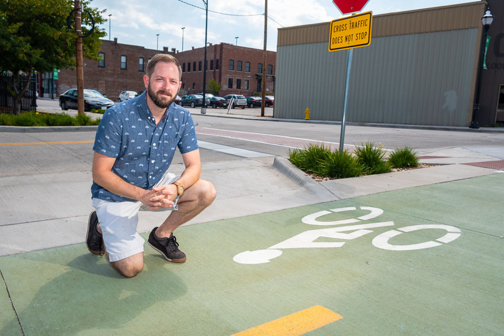 The City Utilities Transit Center is one of five bike share stations planned for downtown, says Cody Stringer, the driving force behind Springfield Bike Share.