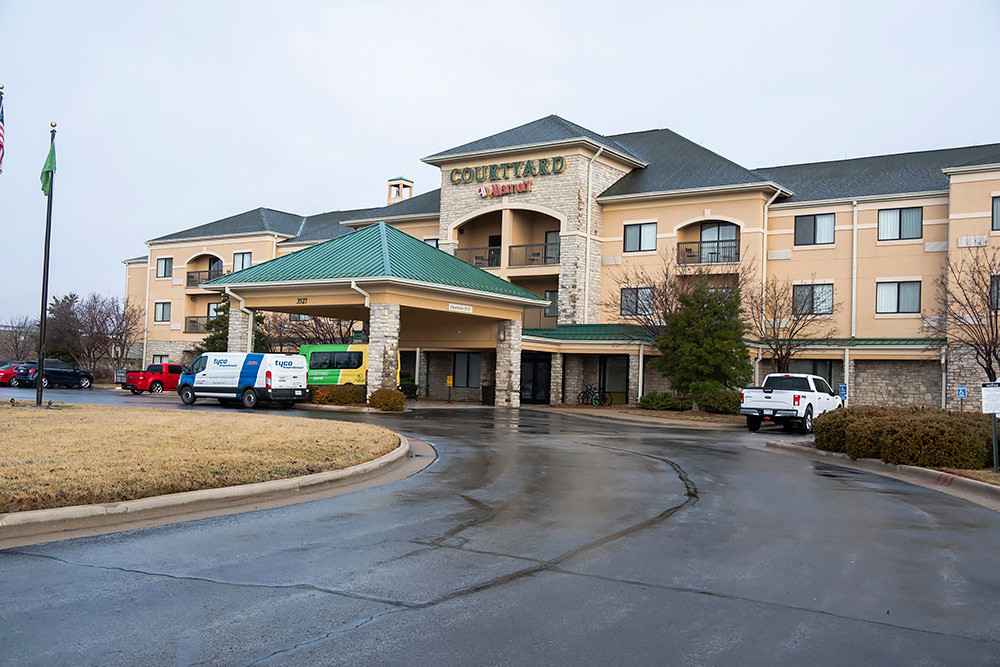 New management is in place for Atrium Hospitality's Springfield hotels, including the Courtyard by Marriott near the airport, above.