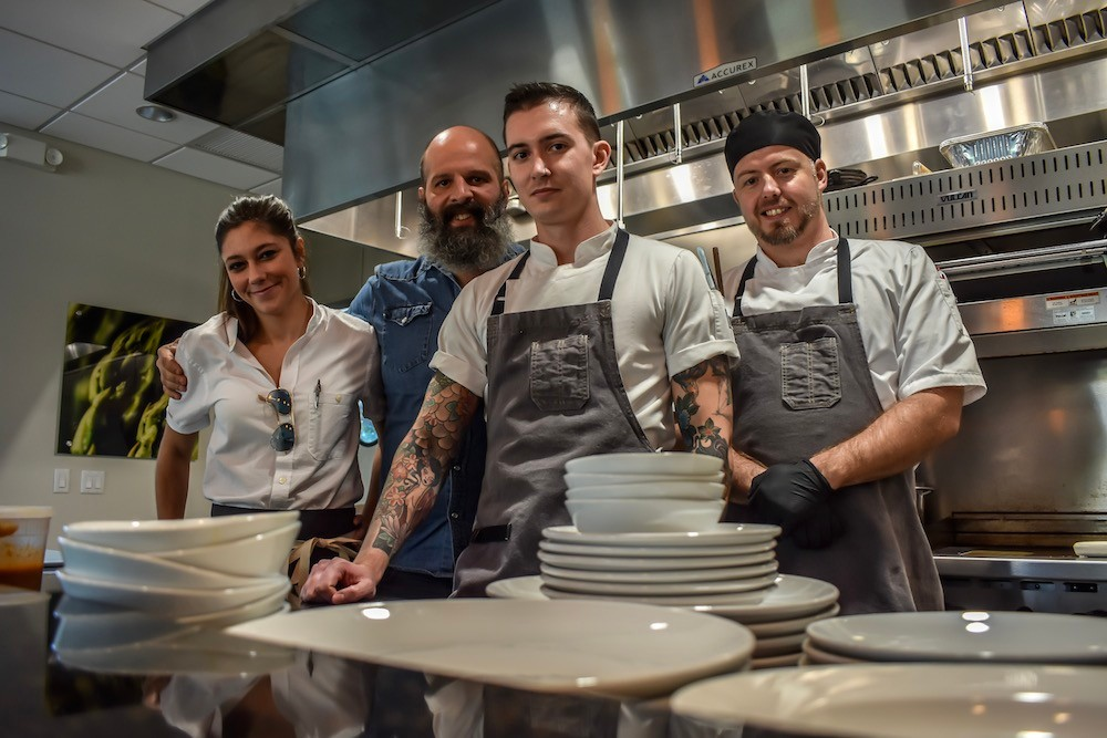 "Co-owners Cassidy Rollins, Michael ""Jersey"" Schmitz and chef Daniel Ernce, along with chef Bryan Veregge, tonight are opening Progress, Springfield's newest south-side restaurant."