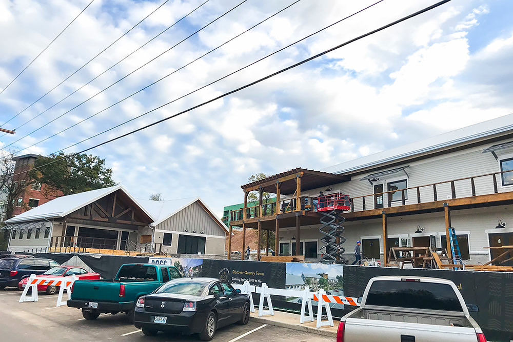 Commercial space is expected to be complete by month's end for Green Circle Projects LLC's Quarry Town in Galloway Village.