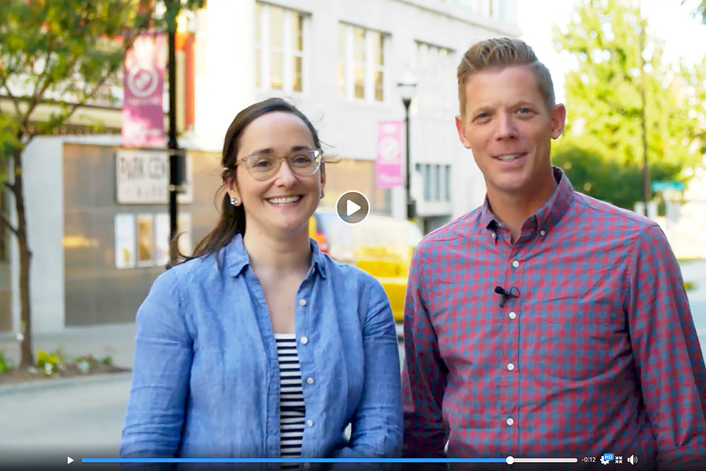 "Jeff Houghton and Sarah Jenkins of ""The Mystery Hour"" narrate a video for Springfield Votes."