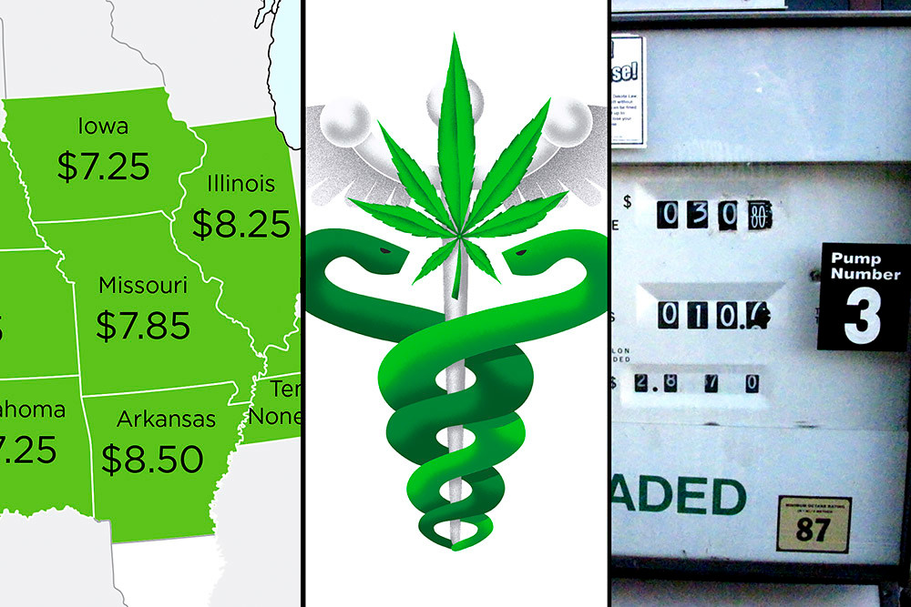 Missouri joins Arkansas in passing minimum wage increases. Missourians also voted to legalize medical marijuana via Amendment 2 but rejected Proposition D's gas tax hike.