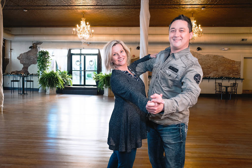 SHALL WE DANCE?: At Savoy Ballroom, Andy and Anne Walls teach weekday dance classes through their company Dance With Me, and they host weddings and events on the weekends.