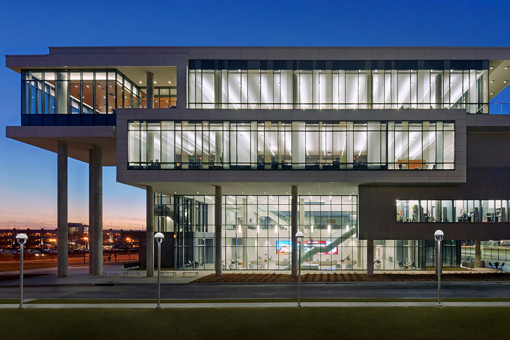 Glass Hall is recognized for the design work by Minneapolis firm Perkins & Will and Springfield firm Dake Wells Architecture.