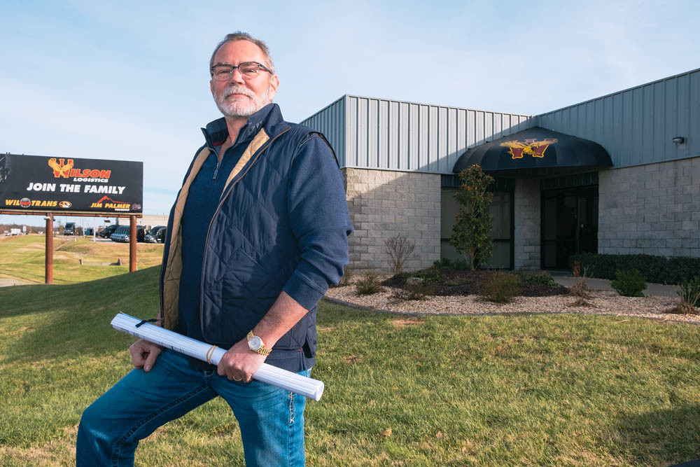 EXPANSIVE GROWTH: Wilson Logistics owner Darrel Wilson has plans to develop a multimillion-dollar terminal in Strafford.
