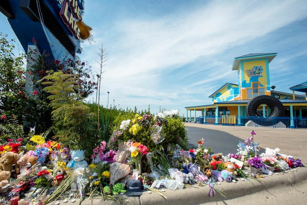 A memorial outside Ride the Ducks Branson this summer mourns the loss of 17 lives.