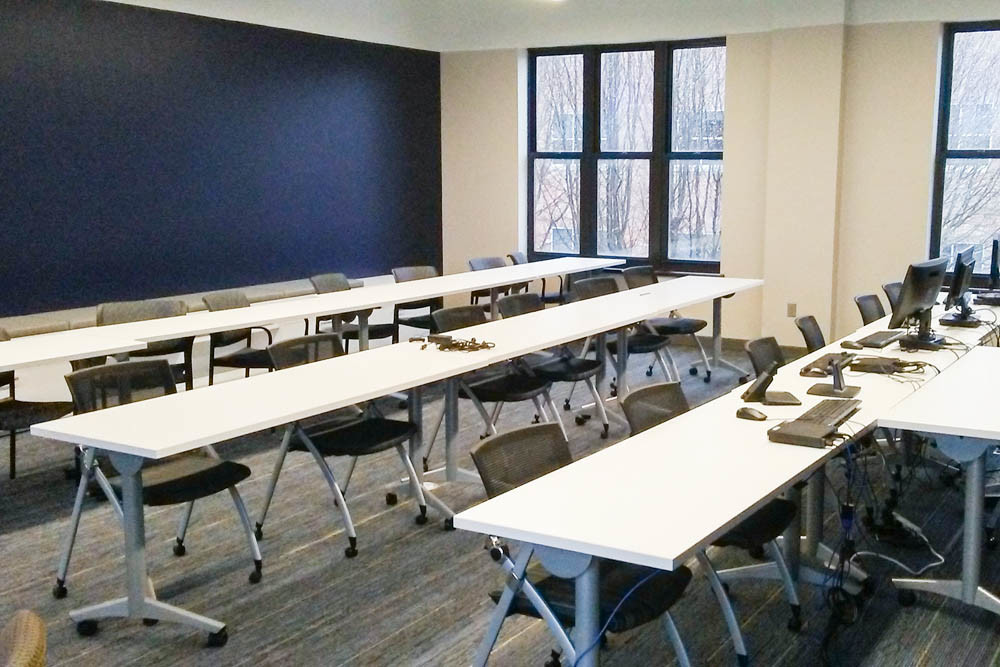 A training room is one of the second-floor offerings at OakStar Bank's new operations center in Chesterfield Village.