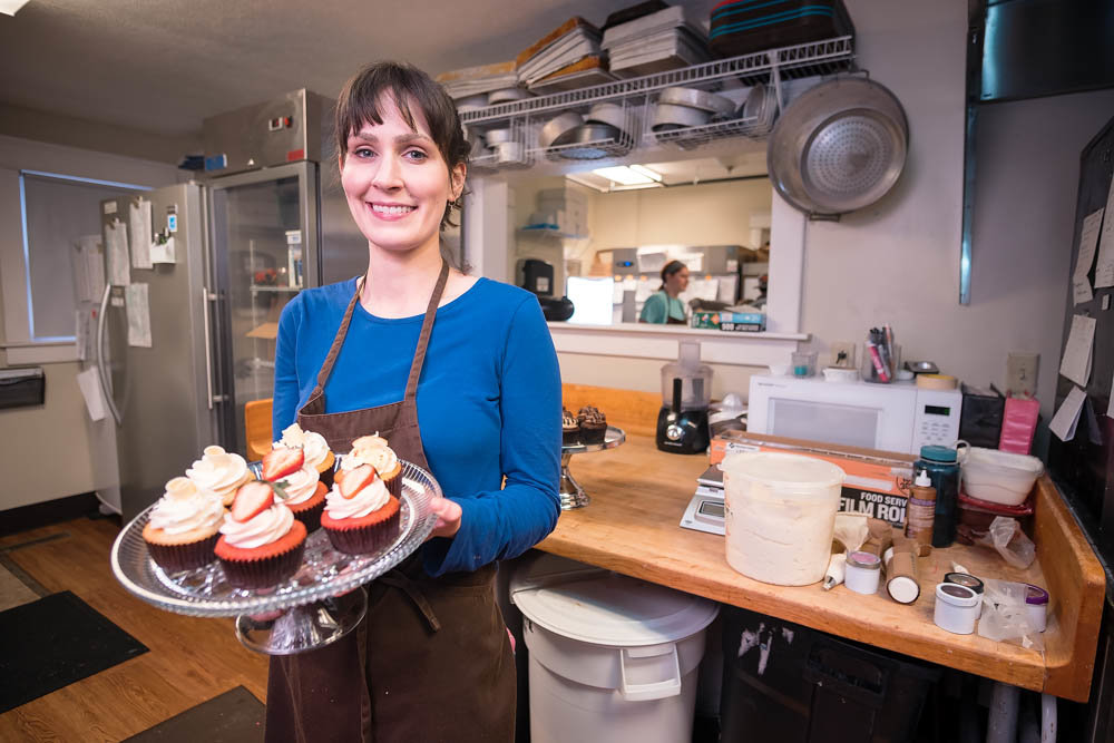 Amy Bloodworth produces mass quantities of sweets at Amycakes, with bakery revenue hitting a record last year.