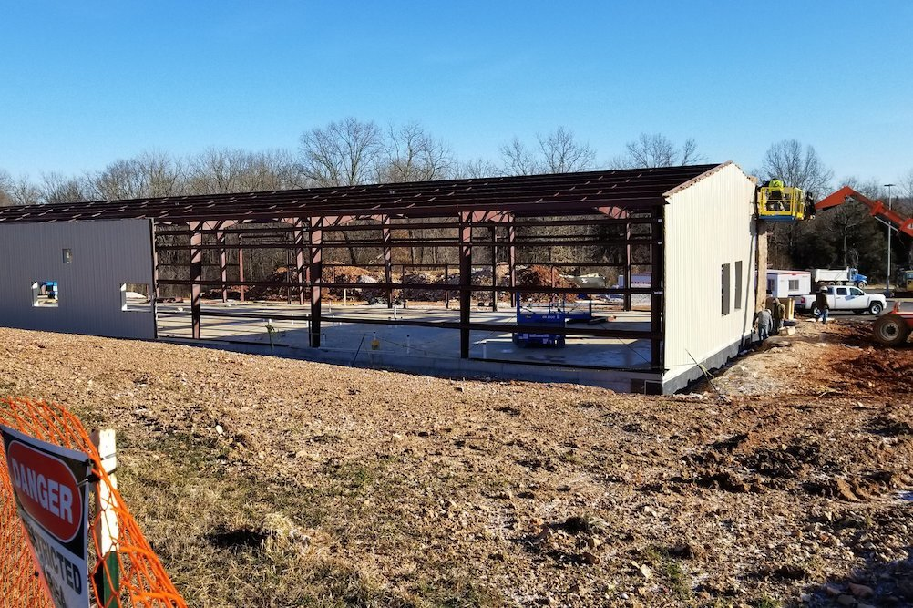 The agriculture building and greenhouse project is slated for completion in August.