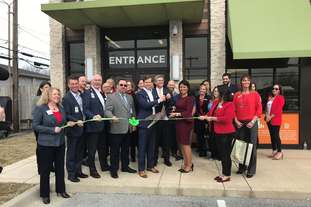 Officials cut the ribbon on the Mercy-GoHealth Urgent Care at 3233 E. Sunshine St.