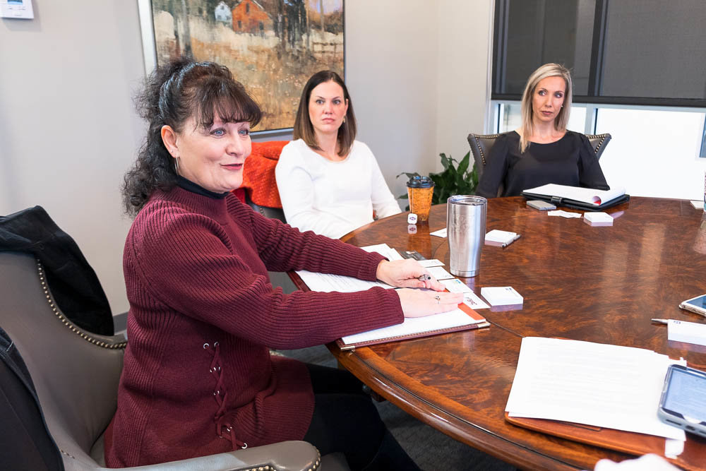 Dianne Devore, Design Fabrications Inc.; Holly Gray, Heim Young & Associates Inc.; and Jill Phillips, Jill Phillips Coaching
