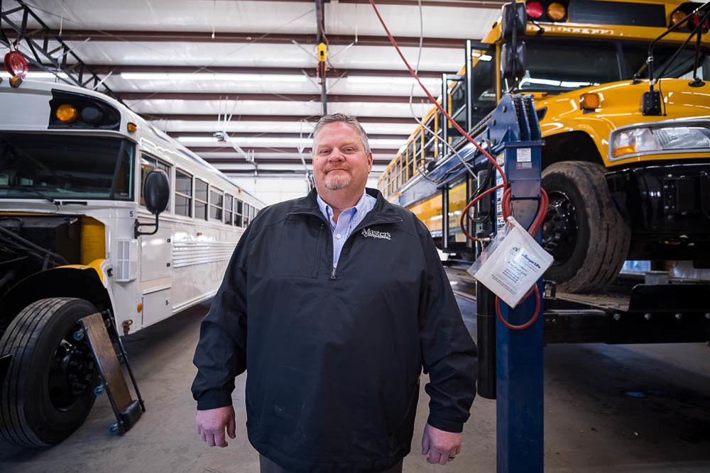 ON THE ROAD: Master's Transportation Vice President John Hatman manages $23 million in business out of the Ozark office.
