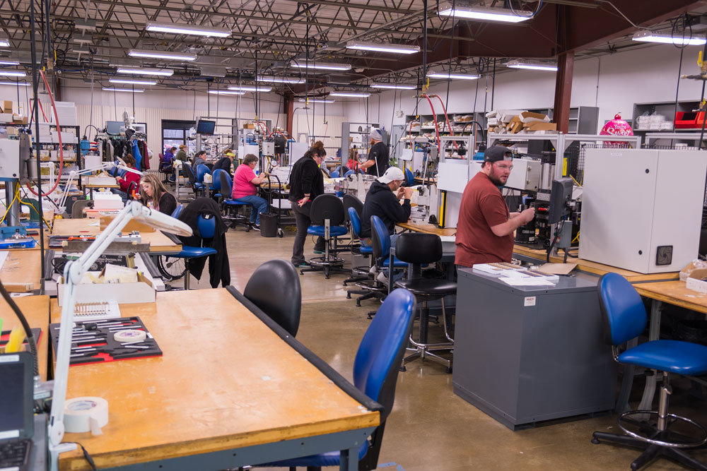 Employees at Positronic Industries' northwest Springfield plant currently work out of 75,000 square feet.