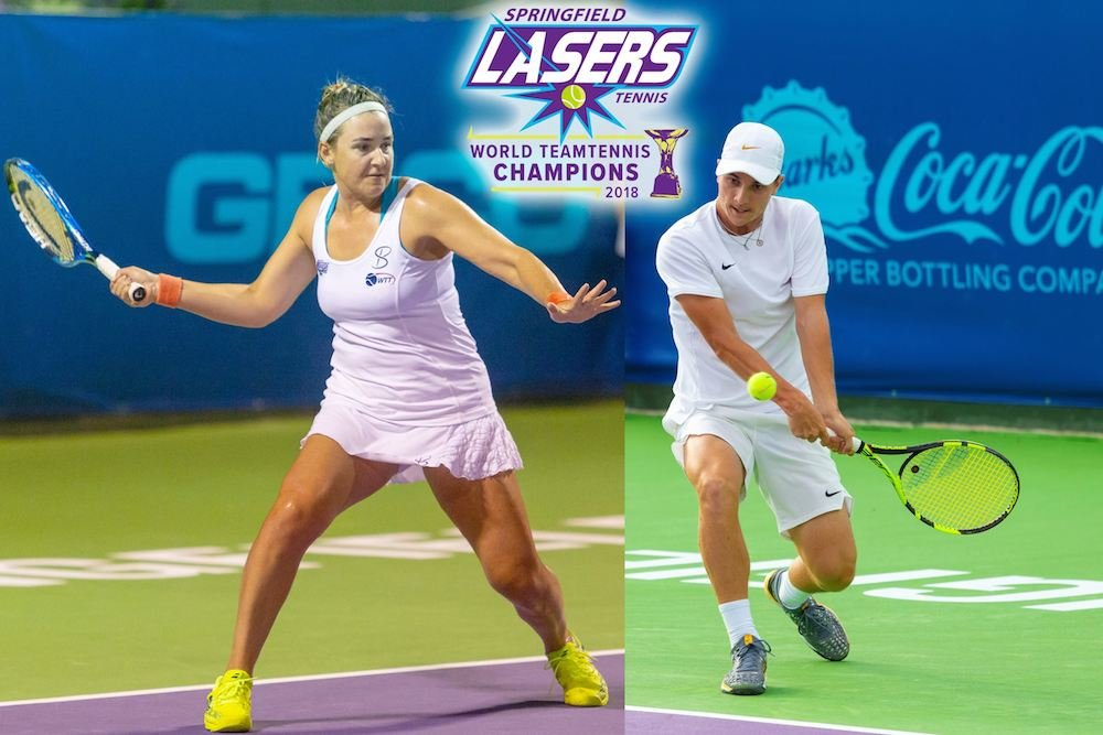"Abigail Spears, left, and Miomir ""Misha"" Kecmanovic are returning to the Springfield Lasers."