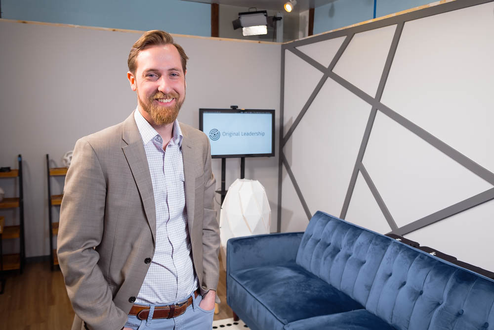 IN THE STUDIO: Kurt Theobald, CEO of Classy Llama Studios, is launching leadership training videos and an app for married couples.