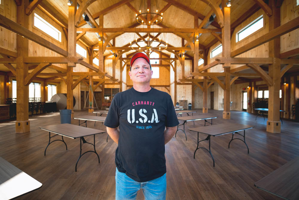 TIMBER TIME: Benji Hurd handles the marketing and sales for Ozark Timber Frame, which his dad, Ben Hurd, co-owns.