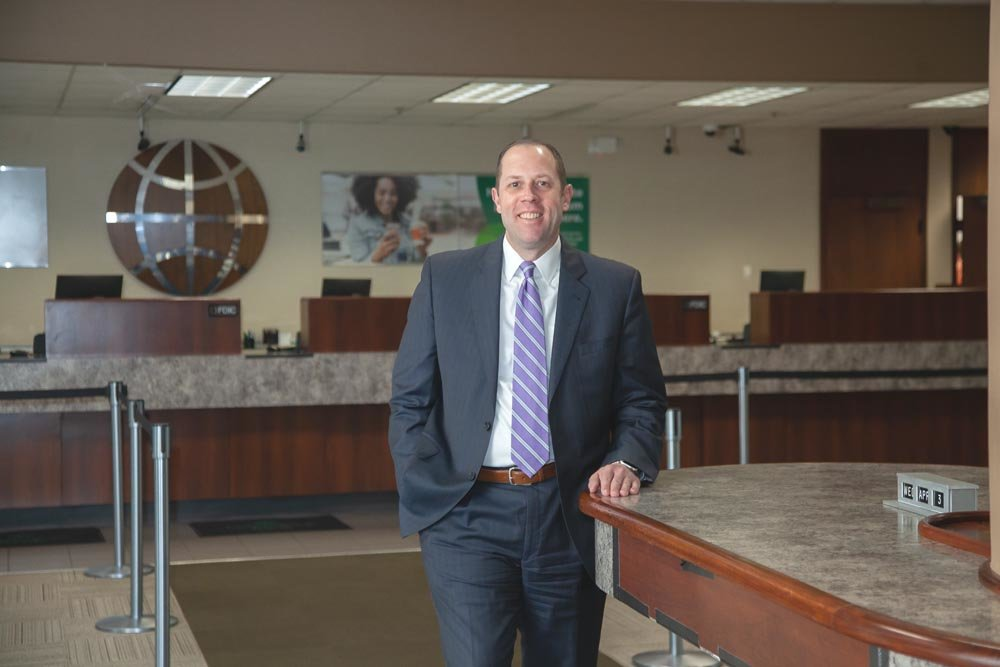 RIGHT RATIO: Commerce Bank CEO Doug Neff says the bank aims for a loan-to-deposit ratio around the 70 percent mark.
