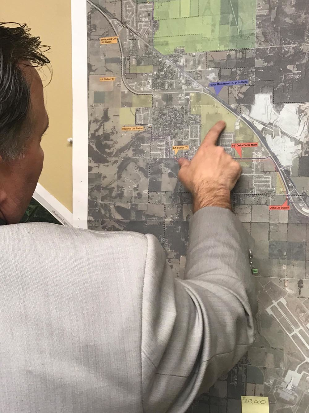 In Willard City Administrator Brad Gray's office is a map pinpointing areas for possible development.